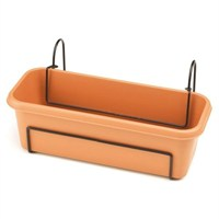 Stewart Garden Balcony Trough Set - 60cm - Terracotta (4062034)