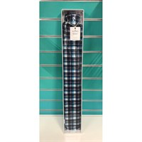 Blue Tartan Long Hot Water Bottle