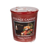 Village Candles - Happy Holidays Premuim Votive Christmas Candle (106102356)