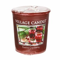 Village Candles - Festive Cranberry Premuim Votive Christmas Candle (106102840)