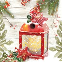 Ling 6 Pack Charity Christmas Cards - Christmas Lantern - 13.5cm (X12120RCJP)