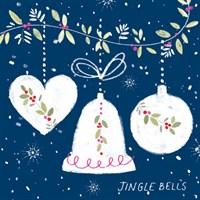 Ling 6 Pack Charity Christmas Cards - Jingle Bells - 13.5cm (X12129RCJP)