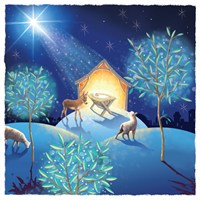 Ling 6 Pack Charity Christmas Cards - Nativity Scene - 13.5cm (X12132RCJP)