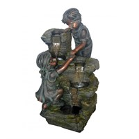 Aqua Creations Boy & Girl At Rock Water Feature (PWFH4566)