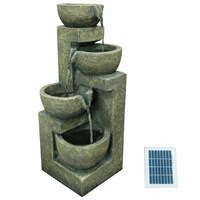 Aqua Creations Solar Powered 4 Bowl Water Feature (PWF3508)