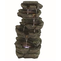 Aqua Creations Solar Powered Slate Falls Led Water Feature (PWFG1845)
