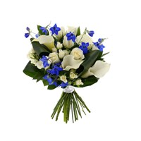 Baby Boy Blue Cut Flower Handtied Bouquet