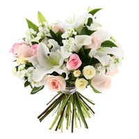 Baby Girl Pastel Cut Flower Handtied Bouquet