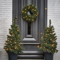 Black Box Christmas In A Box Two 90cm LED Artifical Trees & 45cm LED Wreath Door (1046230)