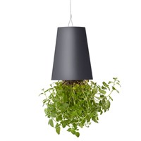 Boskke Sky Planter Recycled Upside Down Hanging Plant Pot 15cm - Anthracite (BSP15A)