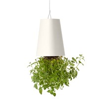 Boskke Sky Planter Recycled Upside Down Hanging Plant Pot 15cm - White (BSP15W)