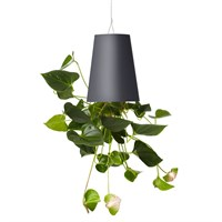 Boskke Sky Planter Recycled Upside Down Hanging Plant Pot 12cm - Anthracite (BSP12A)