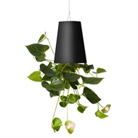 Boskke Sky Planter Recycled Upside Down Hanging Plant Pot 12cm - Black (BSP12B)