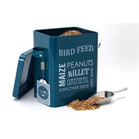 Burgon & Ball Bird Feed Tin - Petrol Blue (GYO/BIRDBLUE)