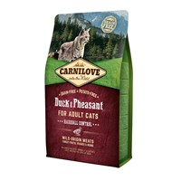 Carnilove Duck & Pheasant Cat Food for Adult Cats - Hairball Control 2kg (512348)