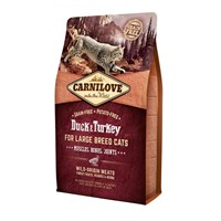 Carnilove Duck & Turkey Cat Food for Large Breed Cats - Muscles Bones Joints 2kg (512768)