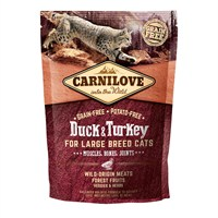 Carnilove Duck & Turkey Cat Food for Large Breed Cats - Muscles Bones Joints 400g (512775)