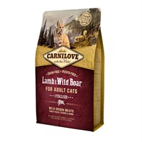 Carnilove Lamb & Wild Boar Cat Food for Adult Cats - Sterilised 2kg (512317)