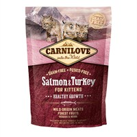 Carnilove Salmon & Turkey Cat Food for Kittens - Healthy Growth 400g (512232)