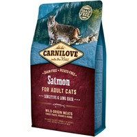 Carnilove Salmon Cat Food for Adult Cats - Sensitive & Long Hair 2kg (512287)