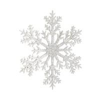 CBI Imports Acrylic Snowflake Silver Hanging Christmas Tree Decoration (942419)