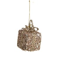 CBI Imports Gliter Parcel Hanging Christmas Tree Decoration Champagne (11139275)