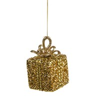 CBI Imports Gliter Parcel Hanging Christmas Tree Decoration Gold (11139237)