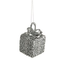 CBI Imports Gliter Parcel Hanging Christmas Tree Decoration Silver (11139244)