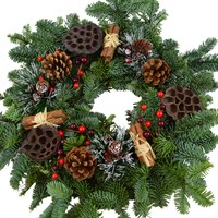 Christmas Natural Decorated Door Wreath