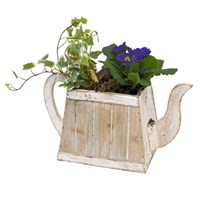 Wooden Teapot Mixed Planter Arrangement