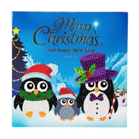Craft Buddy Penguin Family Crystal Christmas Card Kit (CCK-C2)