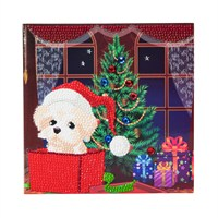 Craft Buddy Puppy For Christmas Crystal Christmas Card Kit (CCK-XM4)