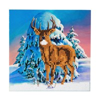 Craft Buddy Winter Stag Crystal Christmas Card Kit (CCK-XM5)