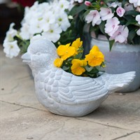 Creekwood Bird Planter - Brushed White (43076)