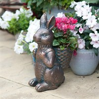 Creekwood Bunny Basket Planter - Bronze (43071)