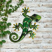 Creekwood Gecko Glass Wall Art - Green - 21cm (48032)