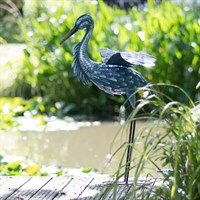 Creekwood Large Grey Heron - Wings Down Garden Ornament (43026)