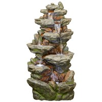 DIRECT DISPATCH Easy Fountain Lugano Water Feature with LEDs (45178L)