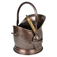 Direct Dispatch Ivyline Antique Copper Coal Bucket Small (WFACCBS)