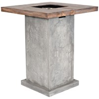 Direct Dispatch Ivyline Clifton Table Grey Outdoor Gas Fire (TBLG)