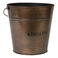 Direct Dispatch Ivyline Copper Kindling Bucket 30Cm (WFCKB30)