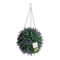 Eden Bloom Artificial Topiary Ball - Lavender Effect - 30cm (02955)