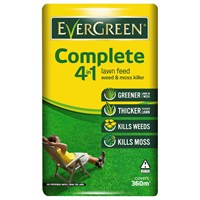 Evergreen Complete 4 in 1 Lawn Feed, Weed & Moss Watersmart 360m2 (015012)