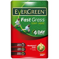 Evergreen Fast Grass Lawn Grass Seed 200m2 Bag (118020)