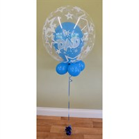 Father's Day Bubble Balloon - Blue