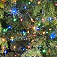 Festive 1000 Glow-Worm LED Christmas Lights - Multi Coloured (P030504)
