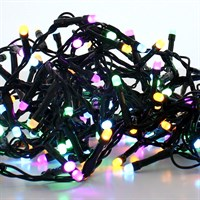 Festive 1000 Glow-Worm LED Christmas Lights - Pastel Mix (P032642)