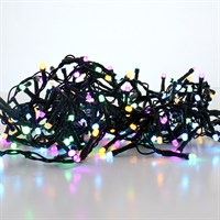 Festive 520 Glow-Worm LED Christmas Lights - Pastel Mix (P032638)