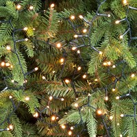Festive 520 Glow-Worm LED Christmas Lights - Warm White (P030497)