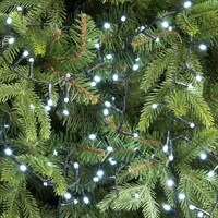Festive 520 Glow-Worm LED Christmas Lights - White (P030494)